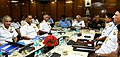 The Chief of Army Staff, General Bipin Rawat, the Chief of the Air Staff, Air Chief Marshal B.S. Dhanoa and the Chief of Naval Staff, Admiral Sunil Lanba at the Commanders' Conference 2017, in New Delhi on October 25, 2017.jpg
