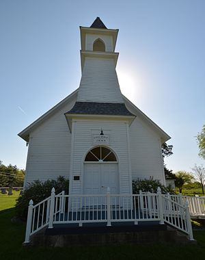 National Register of Historic Places listings in Marion County, Iowa - Image: The Coal Ridge Baptist Church and Cemetery