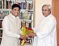 The Minister of State (Independent Charge) for Power, Coal and New and Renewable Energy, Shri Piyush Goyal meeting the Chief Minister of Odisha, Shri Naveen Patnaik.jpg