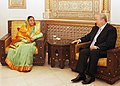 The President, Smt. Pratibha Devisingh Patil meeting the Speaker of the Parliament of Syria, Mr. Mahmoud al-Abrash, at Parliament, in Damascus, Syria on November 28, 2010.jpg