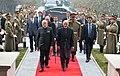 The President of Afghanistan, Dr. Mohammad Ashraf Ghani welcomes the Prime Minister, Shri Narendra Modi, at President House, at Kabul, in Afghanistan on December 25, 2015 (1).jpg