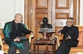 The President of Islamic Republic of Afghanistan, Mr. Hamid Karzai meeting the President, Shri Pranab Mukherjee, at Rashtrapati Bhavan, in New Delhi on May 21, 2013.jpg