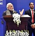 The Prime Minister, Shri Narendra Modi addressing the First PIO Parliamentarian Conference, in New Delhi on January 09, 2018 (1).jpg