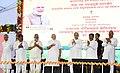 The Prime Minister, Shri Narendra Modi laying the foundation stone of the Talcher Fertilizer Plant, in Odisha.JPG