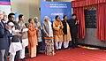 The Prime Minister, Shri Narendra Modi unveiling the plaque to mark inauguration of Botanical Garden-Kalkaji Metro Line at Botanical Garden, in Noida, Uttar Pradesh.jpg