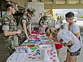 The Pyramid Rock Young Marines encourage military family members to sign pledges to be drug–free.jpg
