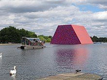 Christo's Mastaba installation in Hyde Park, London