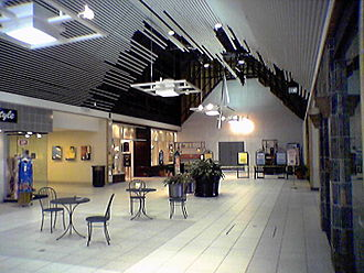 The Shops at Willow Lawn - Remodeling in 2005.  The enclosed mall area beyond this point was in the process of being demolished and made into an outdoor shopping center, while the remainder of the mall was remodeled.
