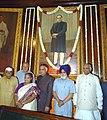 The Speaker, Lok Sabha, Shri Somnath Chatterjee, the Union Home Minister, Shri Shivraj Patil and other dignitaries paid floral tributes to Baba Saheb, Dr. B. R. Ambedkar on his 115th Birth Anniversary, in New Delhi.jpg
