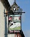 The Swan at Fradley pub sign, Staffordshire - geograph.org.uk - 1560006.jpg