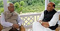 The Union Home Minister, Shri Rajnath Singh in a meeting with the Governor of Jammu and Kashmir, Shri N.N. Vohra, in Srinagar on July 02, 2015.jpg