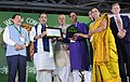 The Union Minister for Agriculture and Farmers Welfare, Shri Radha Mohan Singh giving away the Dharti Mitr Award to the winners, at the inauguration of the 19th Organic World Congress 2017, at Greater Noida, Uttar Pradesh (1).jpg