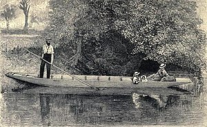 George Dunlop Leslie - The author's punt (from Leslie's book Our river, 1888)