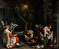 The birth of the Virgin. Oil painting by Leandro Bassano. Wellcome V0017249.jpg