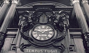 Coal Exchange - Clock inside the trading hall