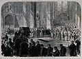 The funeral of Mr. Peabody in Westminster Abbey in 1869. Woo Wellcome V0042362.jpg