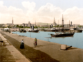The harbour in Kingstown, Co. Dublin, Ireland, in about 1895 - Option 2.png
