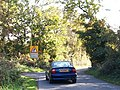 The narrow road from Mariandyrys approaching Llangoed - geograph.org.uk - 1546518.jpg