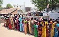 The women voters in a large queue to cast their vote in the Jagiyahpet assembly and Vijayawada parliamentary constituency, in Andhra Pradesh during the 2nd Phase of General Election-2009 on April 23, 2009.jpg