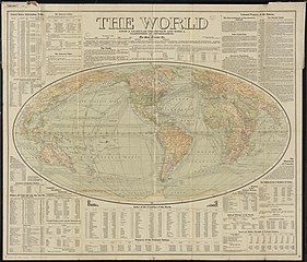 FileThe World Upon Globular Projection And With A Gazetteer Of - Us Map Globular Projection