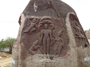 Parshvanatha - Sculpture with image of Parshvanatha, Thirakoil, 8th Century