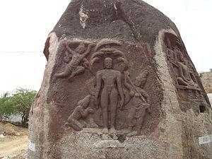 Parshvanatha - Sculpture with image of Parshvanatha, Thirakoil, 8th Century