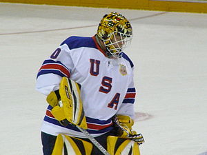 Tim Thomas (ice hockey) - Image: Thomas 2008IIHF