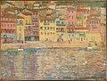 Thomas William Marshall - Reflets et barques à Villefranche (1907).jpg