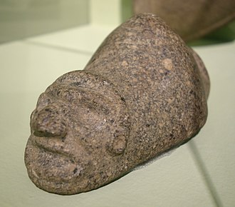 Yúcahu - A stone representation of the three-pointed zemi found in Puerto Rico (c. 1000-1494 AD)
