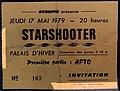 Ticket concert de Starshooter en 1979 à Lyon (Lyon capitale du rock - 1978-1983).jpg