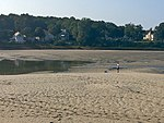 Tidal Suites at the Norseman Resort - people fly RC planes on river bed at low tide IMG 9041 FRD.jpg