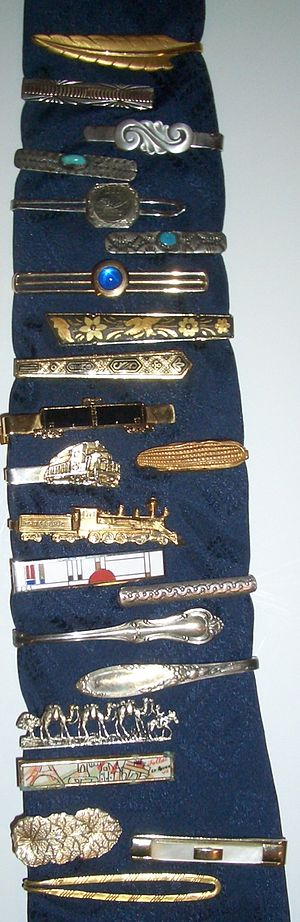 Tie clip - A selection of tie clips, mostly from the early to mid 20th century
