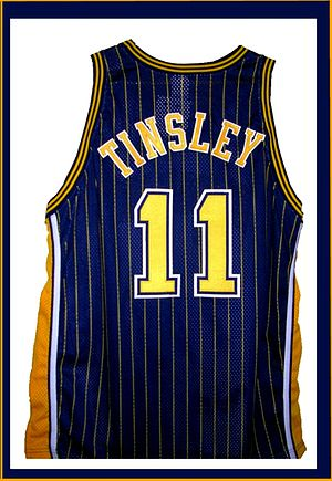 Jamaal Tinsley - Image: Tinsley pacers jersey