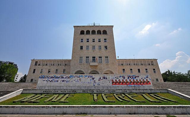 Mother Teresa Square's Fascist Architecture.