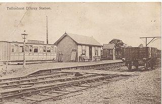 Tolleshunt dArcy railway station