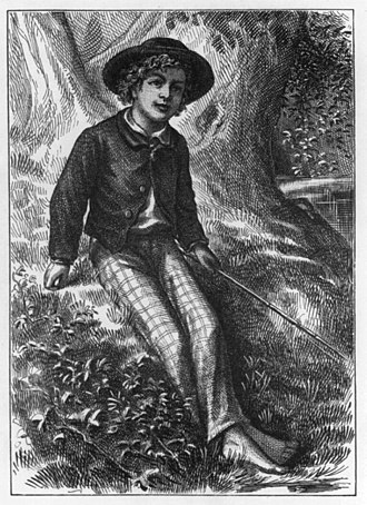 The Adventures of Tom Sawyer - Front piece of The Adventures of Tom Sawyer, 1876 1st edition.