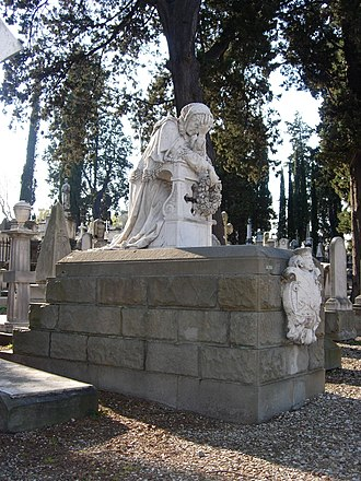 English Cemetery, Florence - A tomb at the English Cemetery