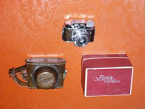 TONE camera - TONE camera with leather case