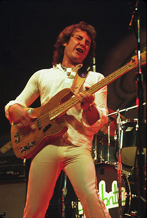 1973 in music - Foghat's Tony Stevens in 1973