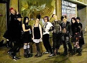 Toronto goth scene - Toronto goths on Dundas Street West in 2008
