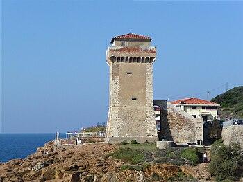 English: Torre di Calafuria, Livorno, Italy