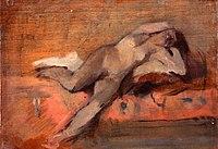 Toulouse-Lautrec - ETUDE DE NU ( femme renversée sur un divan ), 1882, MTL.87.jpg