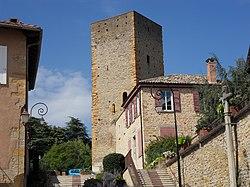 La tour du château de Saint-Cyr.