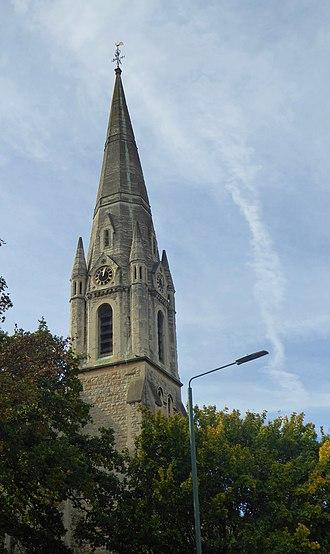 Bexley - St John the Evangelist, late 19c neo-gothic design