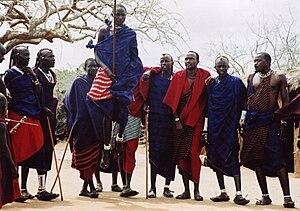 English: Traditional Maasai Dance Kenya 2005