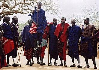 African dance - Adumu, Maasai traditional dance