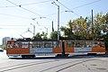 Tram in Sofia in front of Tram depot Banishora 004.jpg