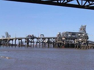 Tranmere Oil Terminal - Tranmere oil terminal.