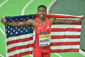 Trayvon Bromell - Bromell at the 2016 World Indoor Championships