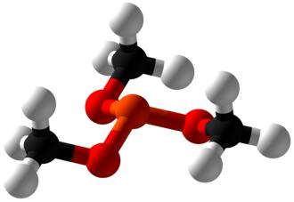 Trimethyl phosphite - Image: Trimethyl phosphite Ball and Stick